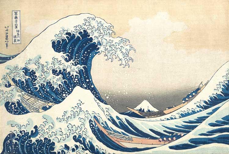 La Grande Vague de Kanagawa : oeuvre de l'artiste peintre Hokusai